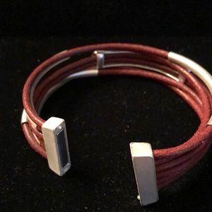 Merx Jewelry - Merx Burnt Orange/White Bangle